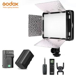 Image 1 - Светодиодный светильник Godox 308C II 3300K 5600K, лампа для видеосъемки + пульт дистанционного управления для видеокамеры DV + аккумулятор NP770 + зарядное устройство, Бесплатная доставка