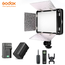 Godox LED308C II 3300K 5600K LED Video Light Lamp + Remote for DV Camcorder Camera+NP770 Battery + Charger Free Shipping