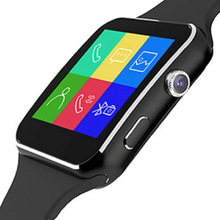 цена X6 Smart Watch Support SIM TF Card h Camera Smartwatch Bluetooth Dial/with Camera Touch Screen For iPhone Xiaomi Android IOS онлайн в 2017 году