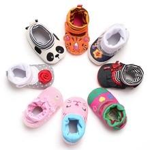 Toddler Baby Shoes Winter Warm Newborn Babe Crawling Shoes Boy Girl Prewalker Cute Animal First Walker Infant Boots Cartoon New стоимость