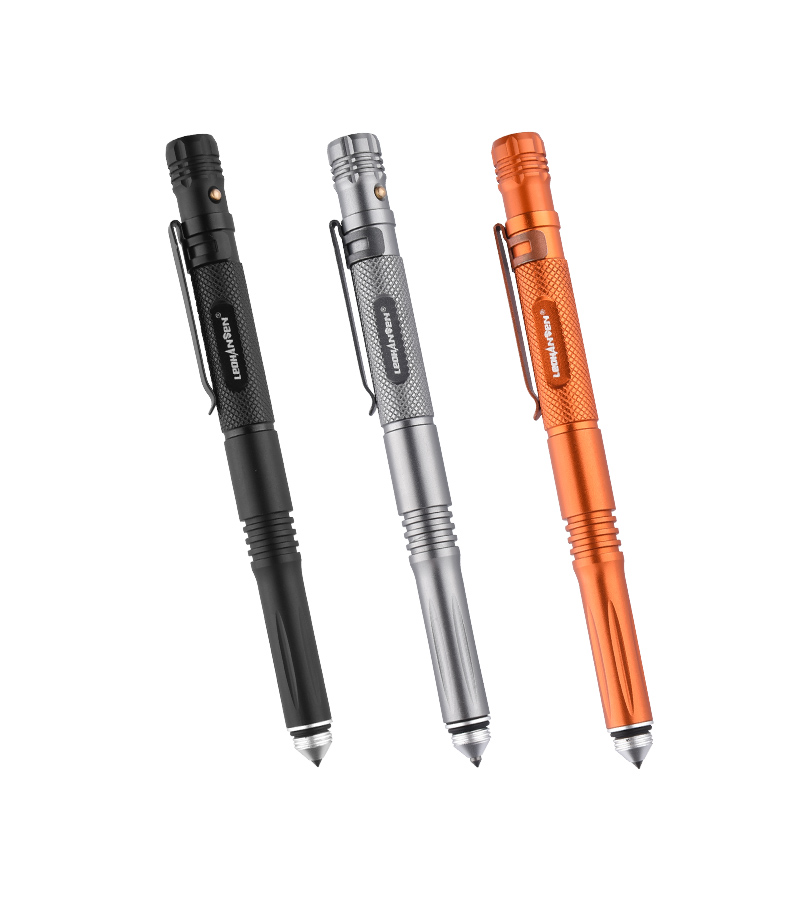 LED Lighting Tactical Pen Tungsten Steel Glass Breaker Defense Tactical Survival Pens Multifunction Broken Window Whistle Pen
