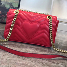 Genuine Leather Fashion Luxury Bag Brand Design Love Women