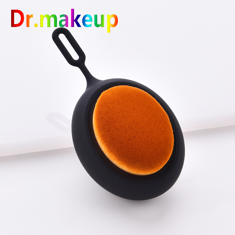 Professional Foundation Brush Big Round Soft Toothbrush Oval Shape High Quality Face Makeup Conceler Foundation Blush Brush image