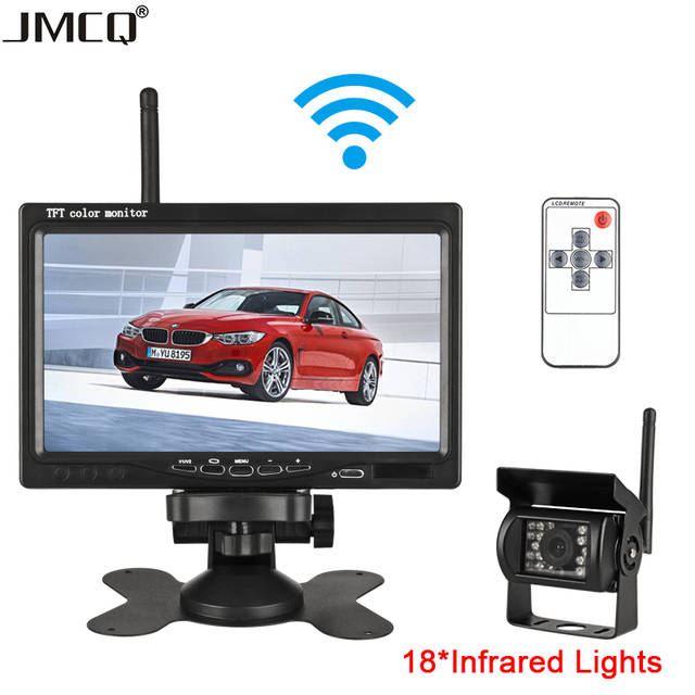 7 Inch Wireless Car Monitor 18 Infrared Lights Night Vision