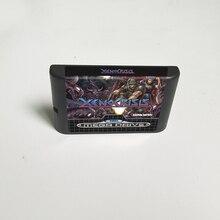 Xeno kryzysu XenoCrisis   16 Bit karta gry MD dla Sega Megadrive w księdze rodzaju gra wideo konsoli wkład