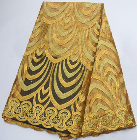 Tulle Lace Fabric African French Lace Fabric Gold African Lace Fabric Cheaper 5yards Nigerian Lace Fabrics For Party Dress PS-A2
