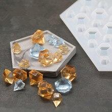 27 отверстий, сделай сам, Алмазная форма, силиконовая форма для мыла, резина, литье, капля воды, эпоксидная силиконовая форма, кристалл, алмаз, браслет, подвеска, форма