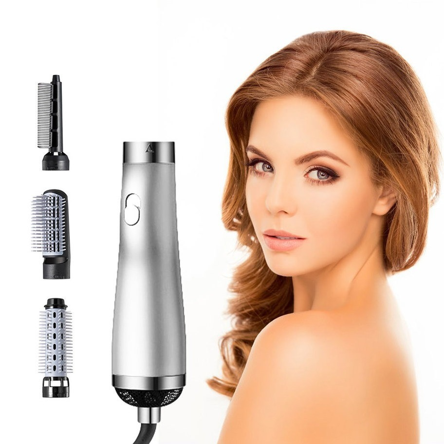 3-in-1 Hair Comb Hair Hot-Air Brushes Negative Ion Generator with One Step Hair Dryer Hair Straightener Hair Curler Wholesale