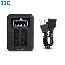 JJC USB Dual Battery Charger สำหรับ Fujifilm NP 95 NP95 Ricoh DB 90 แบตเตอรี่กล้อง Fuji XF10 X100T X100S X100 แทนที่ BC 65N
