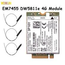 Sierra Wireless Airprime EM7455 DW5811e 3P10Y CAT6 4G Módulo para DELL E7270 E7470 E7370 E5570 E5470 Sem Fio FDD/TDD Gobi6000