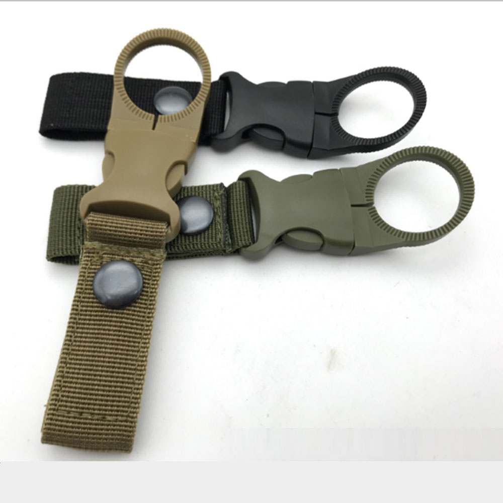 Outdoor Tactics Nylon Ribbon Water Bottle Buckle Multi-function Mountaineering Buckle Portable Quick Hanging Mineral Water Clip