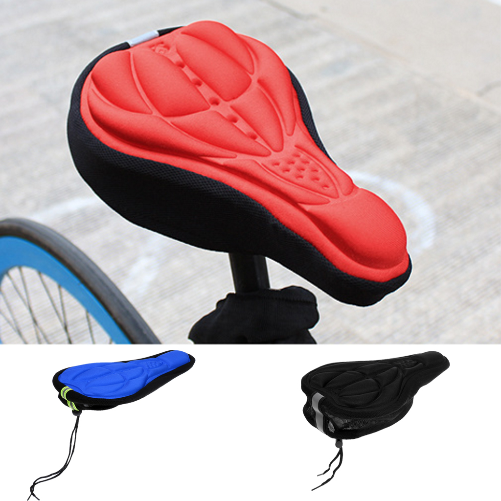 Road Bike Bicycle 3D Saddle Seat Cover Pad Padded Soft Cushion Comfort