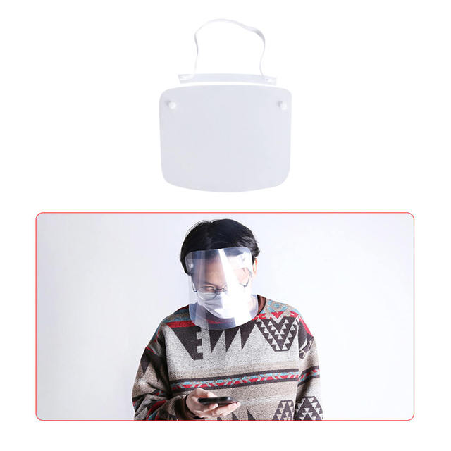 3Pcs/Set Protective Face Shield Clear Visor Anti Fog Saliva Dustproof Full Cover Full Face Cover Anti-Fog Shield 3