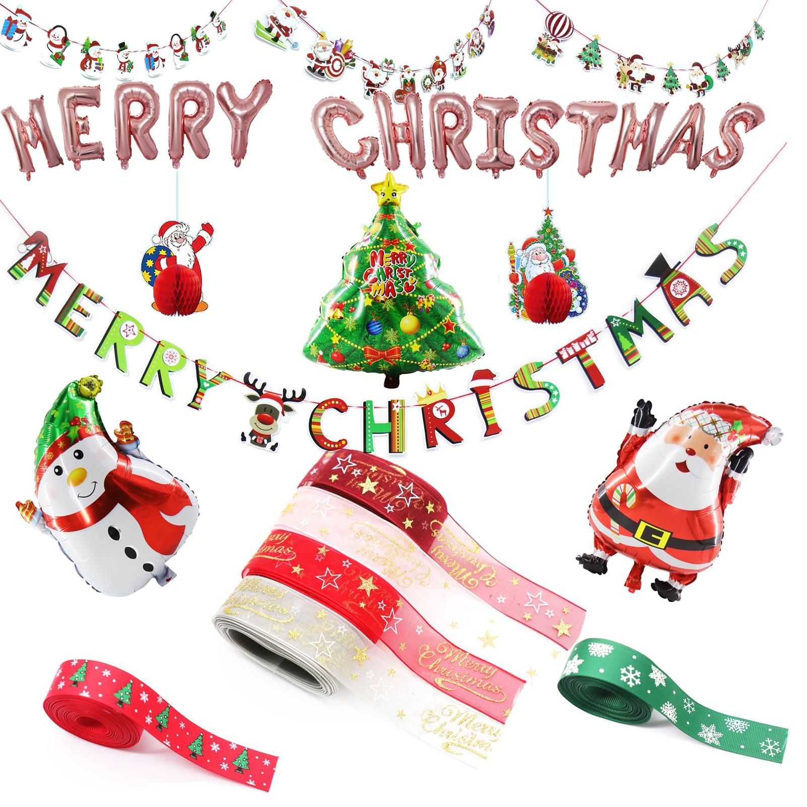 "12/"" inch Merry Christmas Print Latex Balloons Red Santa X-mas party 1-10 baloons"