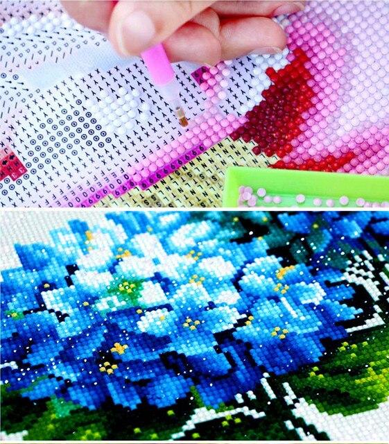 RAILONCH 5D bricolage complet rond diamant peinture papillon mosaïque diamant broderie Animal photo de strass décoration de la maison