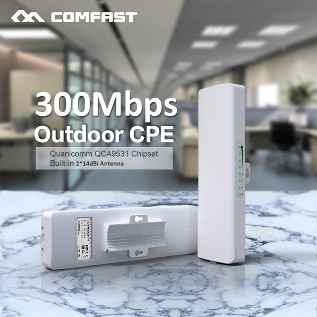 Comfast CF E314N 2.4G Wireless Outdoor Router 3KM WIFI Signal Booster Amplifier WDS Network Bridge 2*14dBi Antenna Wi fi Access