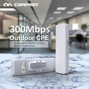 Image 1 - Comfast cf CF E314N 2.4 グラムワイヤレス屋外ルータ 3 キロ無線 lan 信号ブースターアンプ wds ネットワークブリッジ 2 * 14dBi アンテナ wi fi アクセス