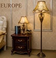 Resin Vintage Led Floor Lamp Classical Pastoral Styl Led Bulb Lamp E27 E26 110V 220V Floor Lamps for Living Room Lamp