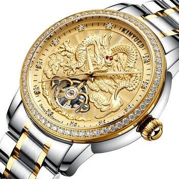 Business dragon golden gold Automatic mechanical watch