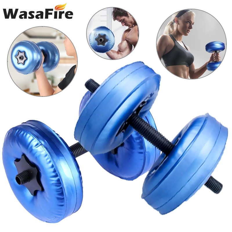 2Pcs/Set Water-Filled Dumbbell 5-10kg Adjustable Dumbbells Home Gym Workout Exercise Fitness Equipment Training Arm Muscle