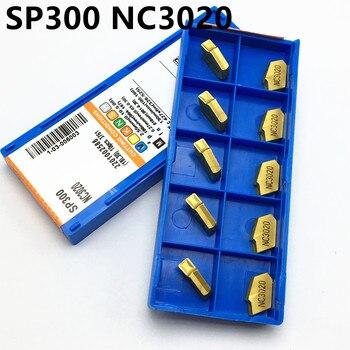 10PCS SP200 / SP300 SP400 NC3030 NC3020 PC9030 Insert Carbide Slotted Blade ZQ2020 Tool ZQ2525 Slot Holder