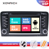 8 Core IPS DSP 2 din Android 9 Car DVD Multimedia For Audi A3 8P S3 RS3 Sportback Navigation GPS Radio stereo head unit 4GB+64GB