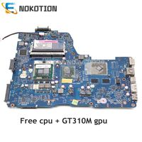 NOKOTION Laptop płyta główna do Toshiba z dostępem do kanałów satelitarnych A660 NWQAA K000104420 K000106370 LA 6062P REV 2.0 HM55 GT310M gpu darmowe cpu w Płyty główne do laptopów od Komputer i biuro na