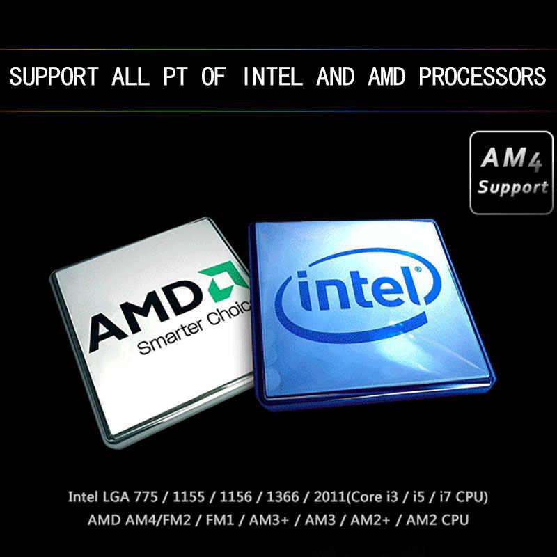 Aigo ICY chłodnica wodna T120/240 PC RGB 120MM wentylator wentylator procesora chłodnicy dla LGA 115x/AM3 +/AM4 120mm wentylator komputera chłodzenie wodne chłodnicy