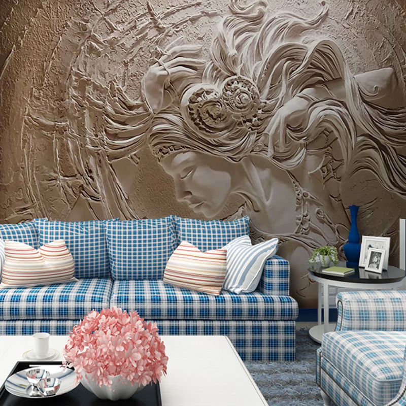 Hot Sale Custom Mural Wallpaper For Wall 3D Embossed Fashion Human Art Beauty Bedroom TV Background Home Wall Decoration Paint