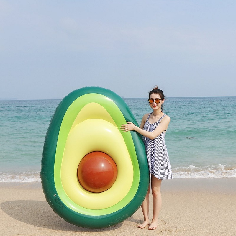 New Inflatable Avocados Floating Mat Air Mattress Water Supplies Children's Toys