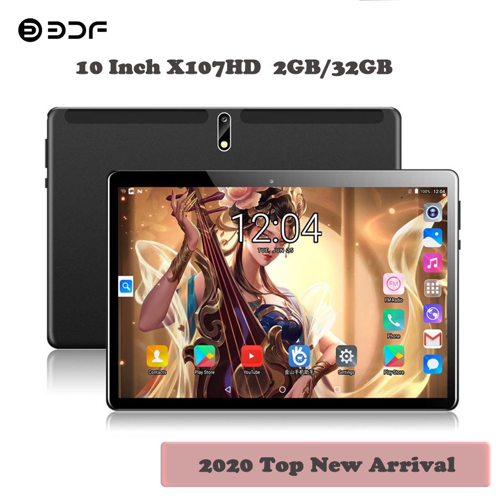 2020 New Arrival 10 Inch Tablet Pc Android 7.0 Google Play 3G Dual SIM Phone Call 2.5D Glass Screen 1280*800 IPS Pc Tablets 10.1