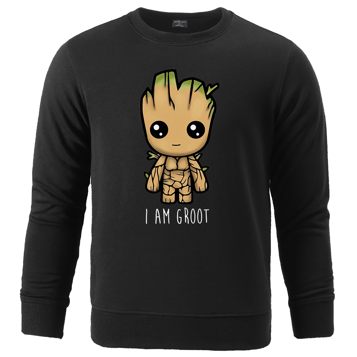 Autumn Winter 2019 Avengers I'M GROOT Printed Sweatshirts Male Casual Pullover Men Sportswear Hoodies Fleece Men's Sweatshirt
