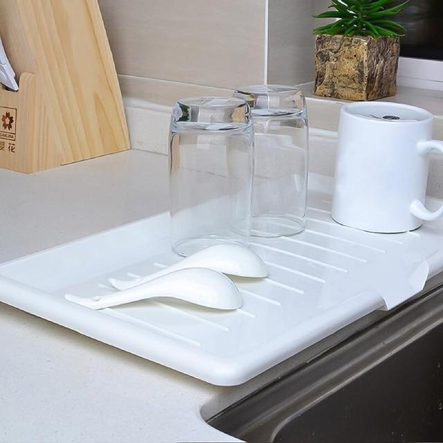 Drain Rack Plastic Dish Drainer Tray Sink Dryer Organizer Silicone Drying Mat Worktop Organizer For Kitchen Accessories 3