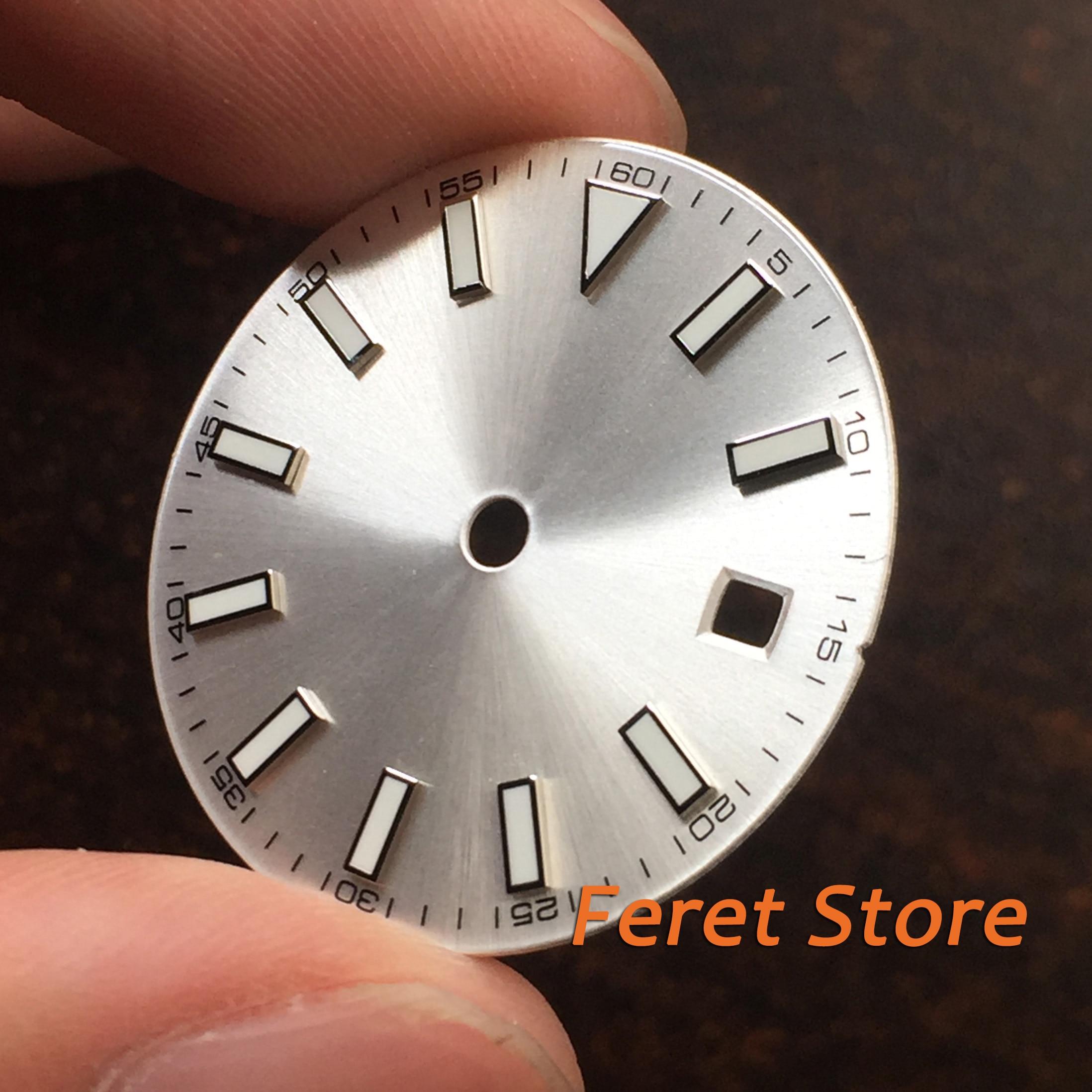 Sterile Hot Silver Selling Dial Green Luminous Fit ETA 2836/2824 DG2813/3804 Miyota 82Series Movement P79