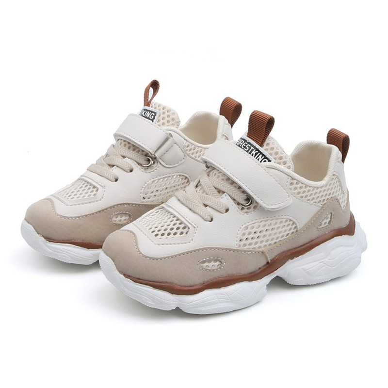 Fashion Kids Sports Shoes Sneakers Single Layer Air Mesh Shoes For Boys Girls Breathable Soft Running Casual Shoes Ins Hot 26-36