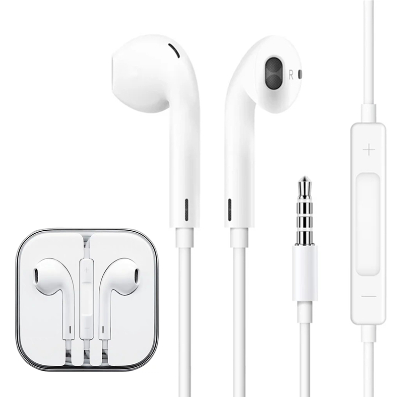 Stereo Sound Hifi Music 3.5mm Jack In-Ear Earphone for <font><b>iPhone</b></font> 6 6S Plus 5 5S 5C SE <font><b>4S</b></font> iPad 3 Wire Control Earbud with Microphone image