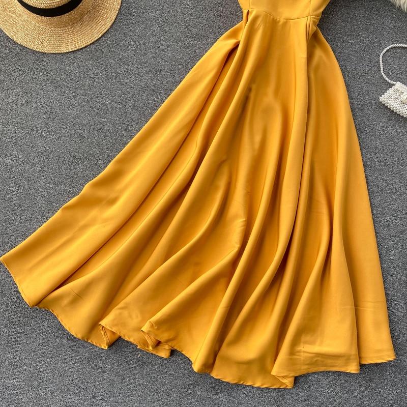 Elegant Vintage Sleeveless V-Neck Bandage Dress 13