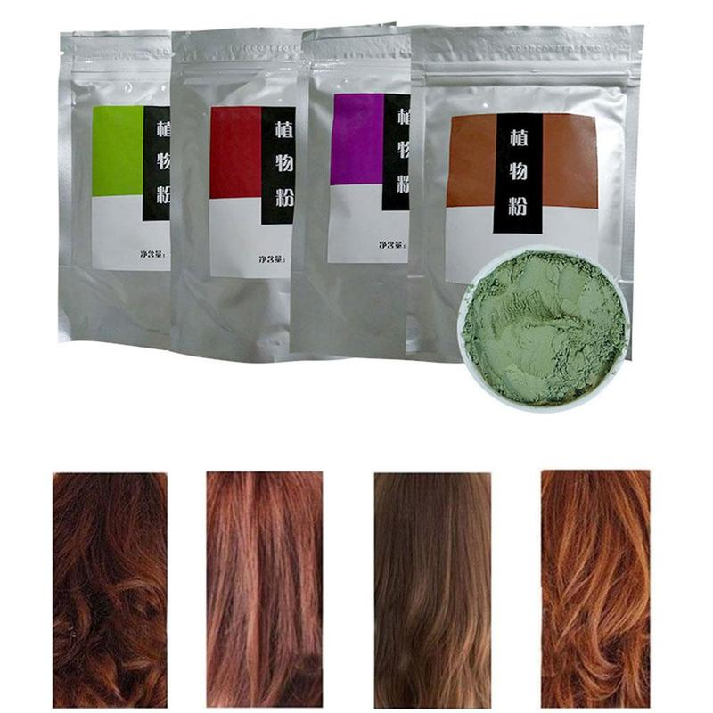 Pure Henna Hair Dye Powder Authentic India All Natural High Pigment Color Hair Root Up Beard Eyebrows Dye Powder Cream
