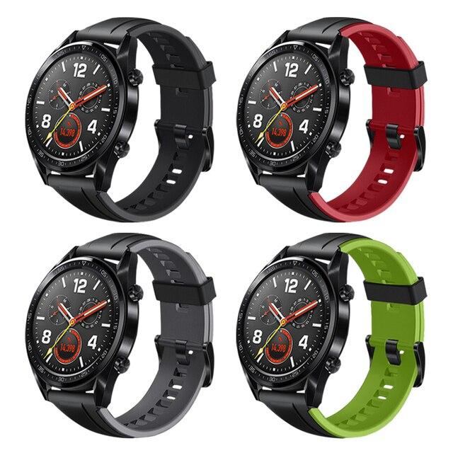 Фото ремешок силиконовый для huawei watch gt/gt 2 46 мм браслет смарт
