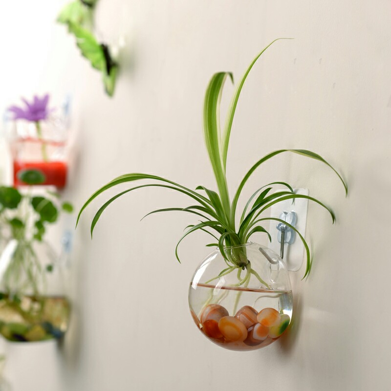 NEW 2020 Hanging Home Vase Glass Ball Garden Supplies Flower Planter Pots Terrarium Container Home Garden Decoration