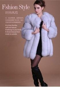 Image 2 - Abrigo de piel a la moda, cálido abrigo de piel de 100% para Chaqueta de piel Natural, chaquetas mullidas de manga larga elegantes para mujer, chaquetas de piel artificial de talla grande, abrigo S 3XL, 2020
