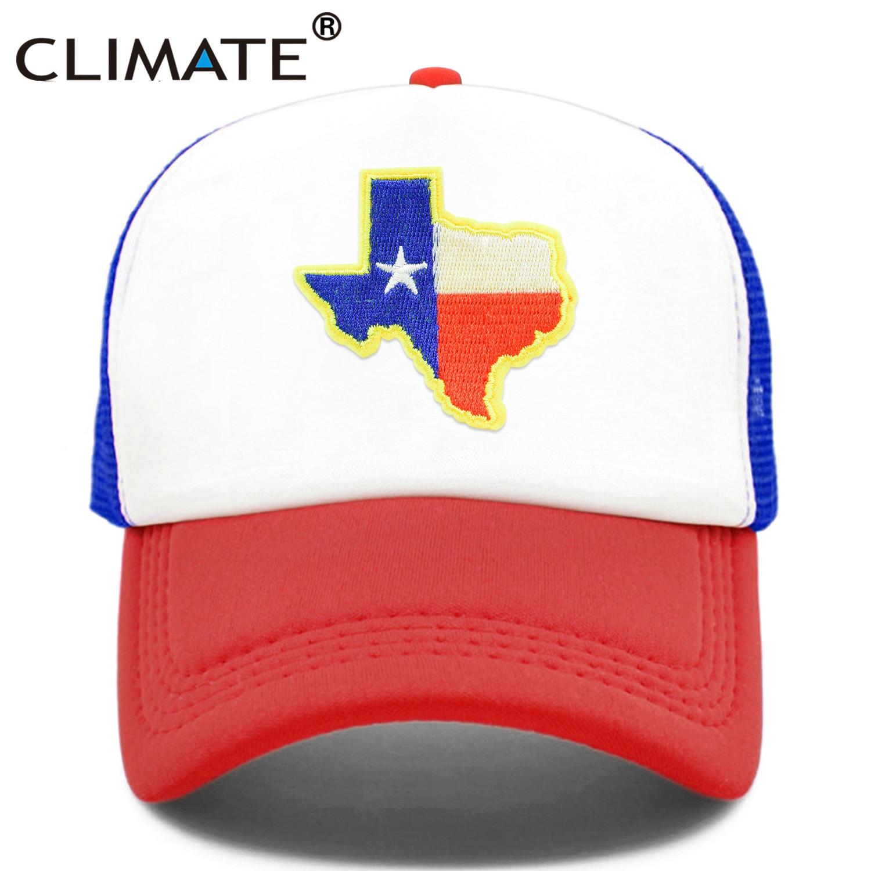 CLIMATE Texas Trucker Cap State of Texas Cap Flag of Texas Map Mesh Cool Hat Cap Cool Mesh Cap Adult