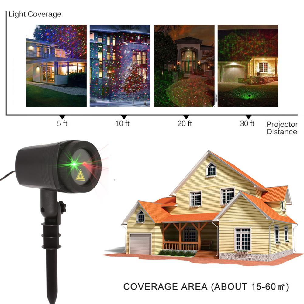 Image 5 - 2019 Outdoor Christmas Laser Lighting Decor For Home New Years Holiday Garden Lawn Projector-in Holiday Lighting from Lights & Lighting