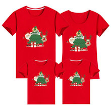 Outfit T-Shirt Mommy Daddy Family Matching Merry-Christmas Funny Daughter Baby Kids Son