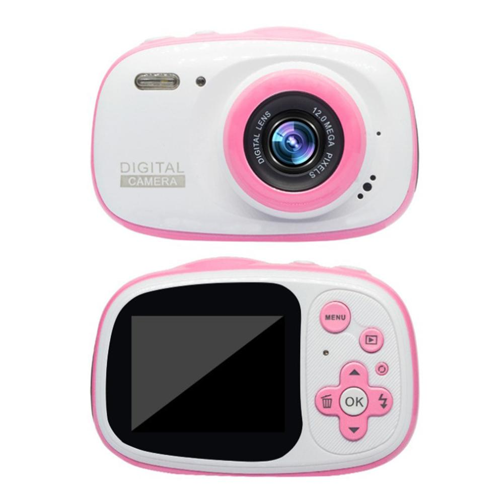 Kids Camera 1080P HD Mini Rechargeable Shockproof Digital Selfie Camera Camcorder Waterproof 2.0 LCD Screen With 32GB SD Card