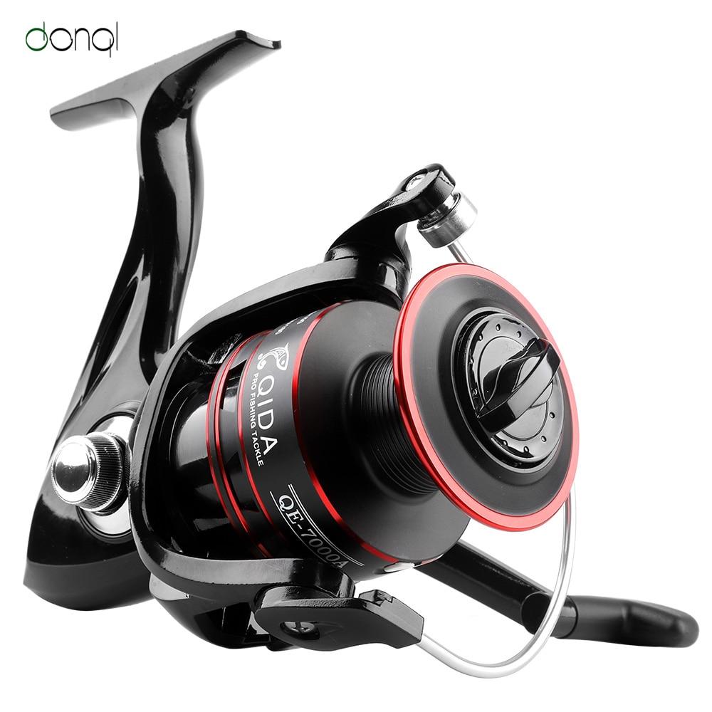 DONQL Spinning Fishing Reel Metal Spool Ultralight 2000-7000 Series Anti-reverse Ultralight Freshwater Reel Bass Carp Fish Wheel