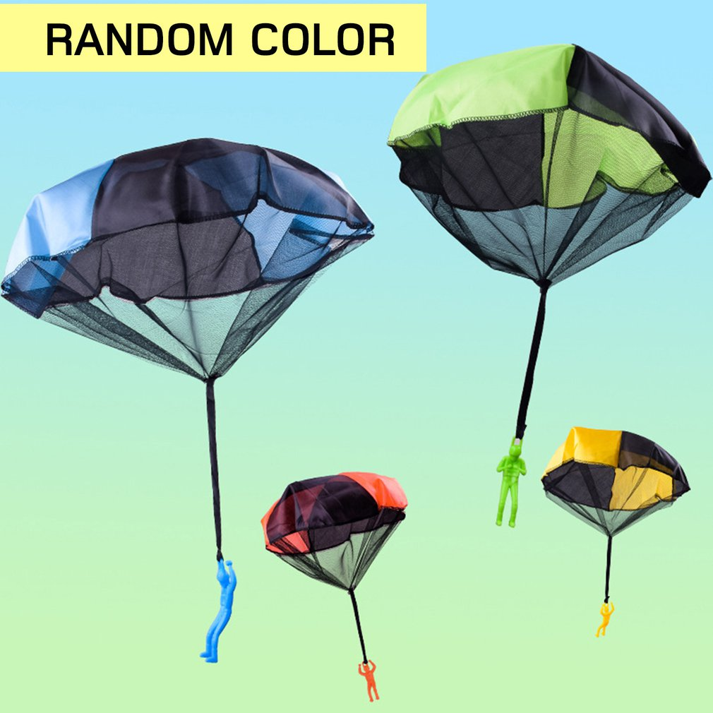 Funny Design Kids Hand Throwing Parachute Toy For Children Educational Parachute With Figure Soldier Outdoor Play Games Sports