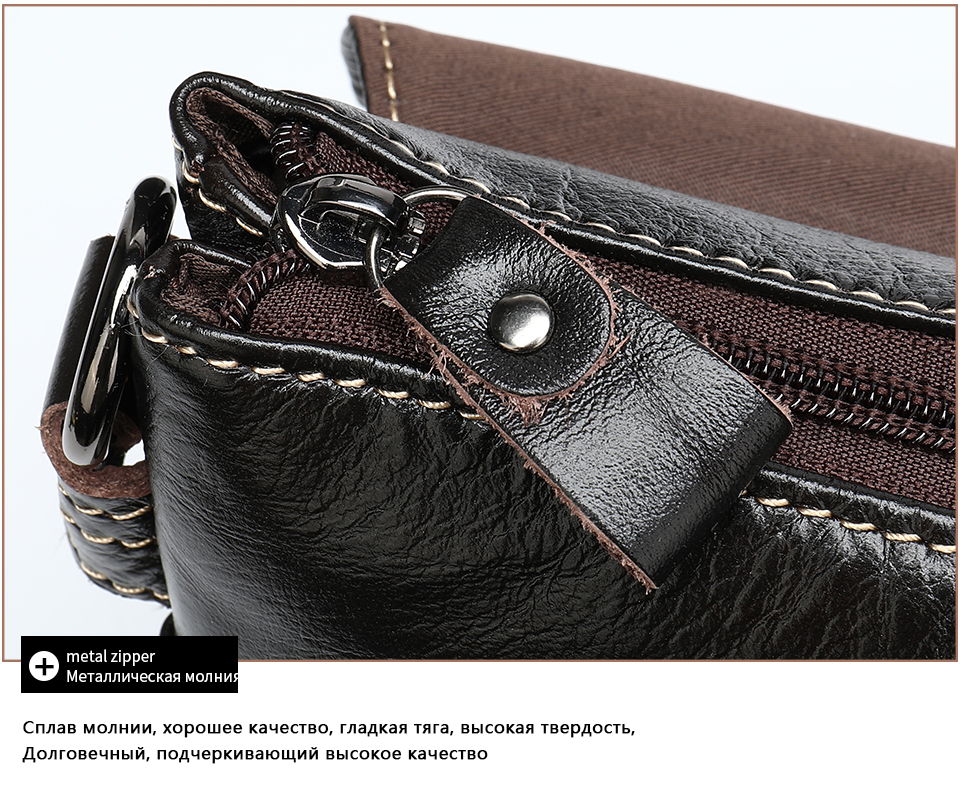 Ha10f435618c94aa6b37c37bb8cd44c3aM Bag Men's Briefcase Genuine Leather Office Bags for Men Leather Laptop Bags Shoulder/Messenger Bag Business Briefcase Male 7909