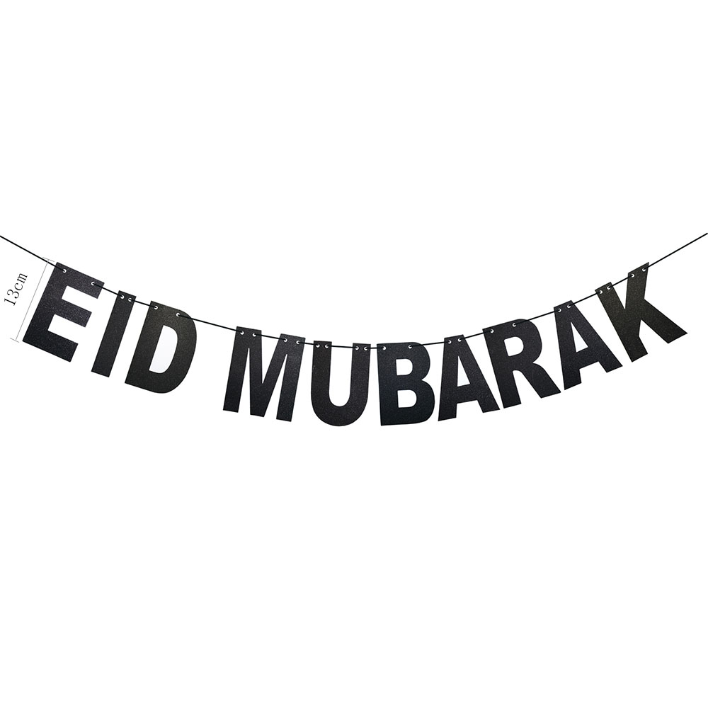 Eid Mubarak Banner Balloons Ramadan Kareem Decoration Ramadan Mubarak Muslim Islamic Festival Party DIY Decorations