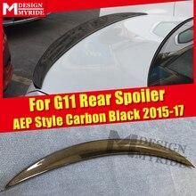 For BMW G11 Spoiler Real Carbon Fiber AEP Style Gloss Black Trunk Spoiler 7-series 740i 750i 750li 760i Spoiler Wings 2015-2017 carbon fiber rear spoiler window wing for bmw g11 g12 7 series 740i 750i sedan 4 door 2016 2018 mp style